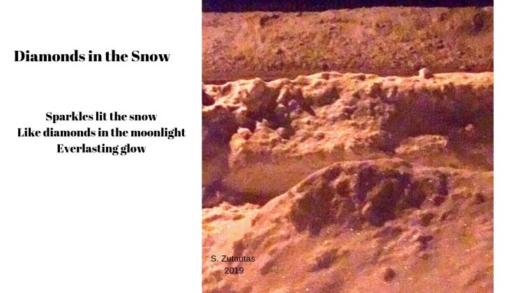 Real Diamonds in Snow