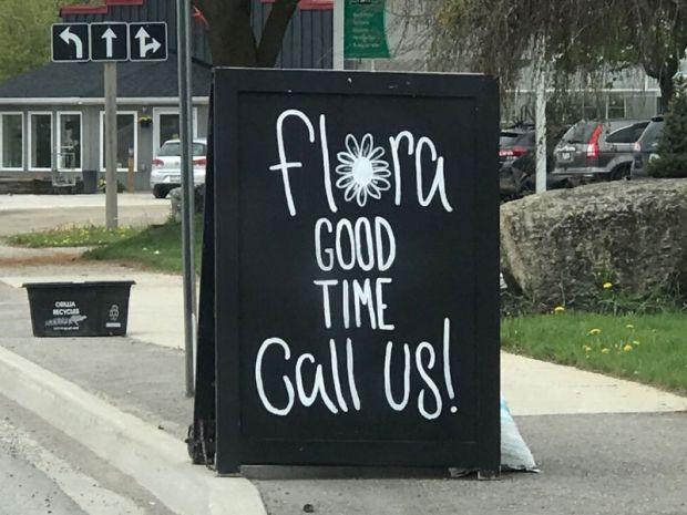 flowershop sign